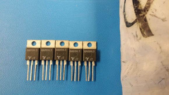 (5 PCS) Q6004L3 TECCOR Thyristor TRIAC 600V 55A 3-Pin(3+Tab) TO-220AB Isolated