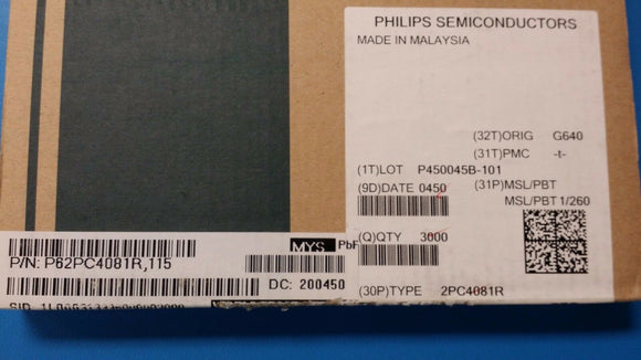 (25 PCS) 2PC4081,115 PHILIPS Trans GP BJT NPN 50V 0.15A 3-Pin SC-70