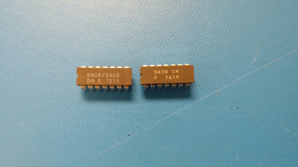 (1 PC) 5408DM, 9N08/5408DM FSC QUAD 2-INPUT AND GATE, CDIP14