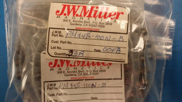(10 PCS) PM74S-100N-B JW MILLER Fixed Power Inductors 10uH +25% to -15%