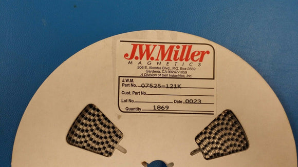 (20 PCS) 07525-121K JW MILLER 120uH 10% INDUCTOR, COIL, FILTERS