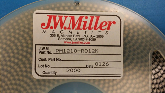 (25 PCS) PM1210-R012K JW MILLER Fixed RF Inductors 0.012uH 10%