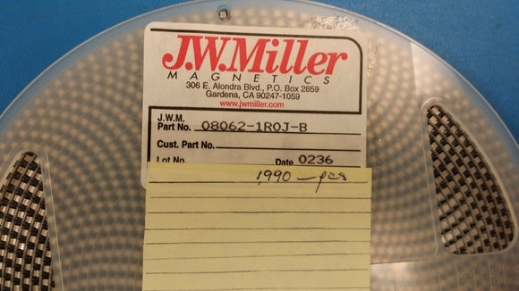 (20 PCS) 08062-1R0J-B JW MILLER Fixed Inductor 1uH 5% SMD