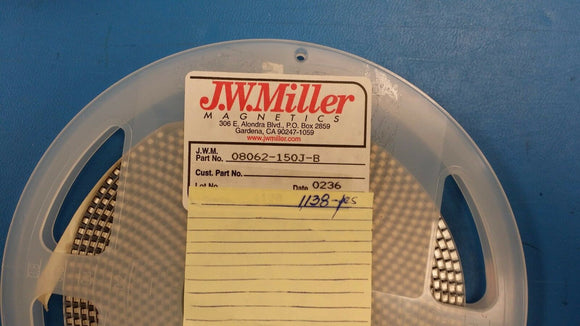 (20 PCS) 08062-150J-B JW MILLER Fixed Inductor 15uH 5% SMD