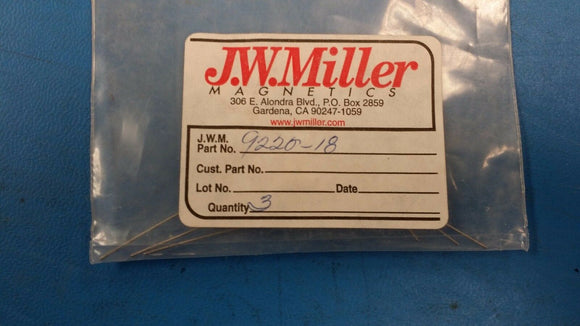 (3 PCS) 9220-18 JW MILLER Fixed RF Inductors 620uH 5%