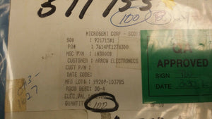 (1 PC) 1N3000B MICROSEMI DIODE ZENER 62V 10W DO213AA