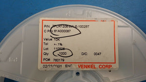 (10 PC) TFCR1206-8W-E-1002BT VENKEL Res Thin Film 10k 0.125W 0.1% +/-25ppm 1206