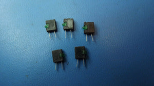 (5PCS) 5350T5 VCC CBI 3mm 1POS Right Angle 2.3V Green