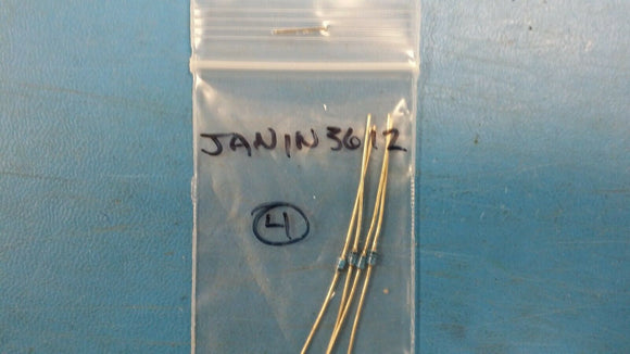 (1 PC) JAN1N3612 STANDARD RECOVERY GLASS RECTIFIER 400V 1A AXIAL