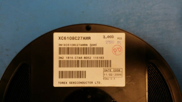 (5 PCS) XC6108C27AMR TOREX SEMICONDUCTOR IC SUPERVISOR 2.7V SOT25-5