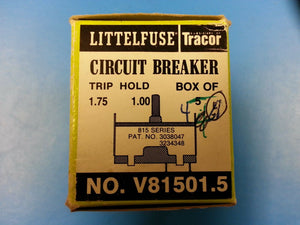 V81501.5 Littlefuse Circuit Breaker 815 series 1.75 Trip 1.0 Hold