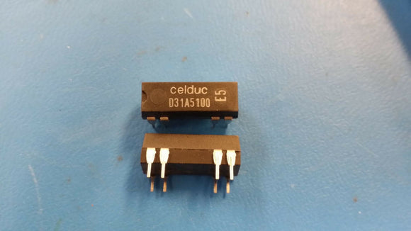 (4 PCS) CELDUC D31A5100 Reed Relays SPST-NO 0.5A 12VDC 1KOhm Thru-Hole