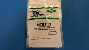 (1pc)NTE712,ECG712,GEIC-2,SK3072, IF Amplifier, Limiter,FM Detector,Audio Driver