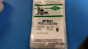 (1 PC) NTE41, ECG41, SK9424, Dual, PNP, Si, Hi Gain, Lo Hoise, Differential Amp