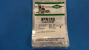 (1 PC) NTE193, ECG193, GE-67A, SK9143, Silicon PNP Transistor, AF Power Output