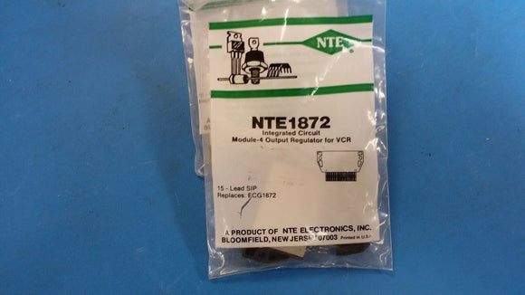 (1 PC) NTE1872, ECG1872, IC, Module, 4 Output Positive Voltage Regulator for VCR