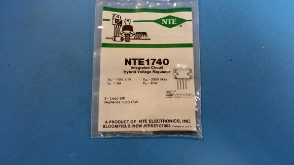 NTE1740, ECG1740, Integrated Circuit, TV Fixed Voltage Regulator