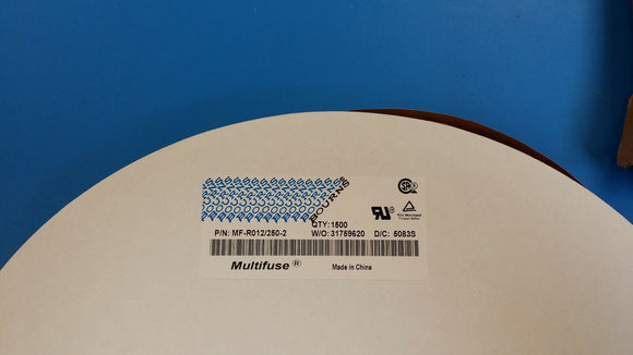 (25 PCS) MF-R012/250-2 BOURNS Resettable Fuses - PPTC 0.12A 60V 7ohm Coated