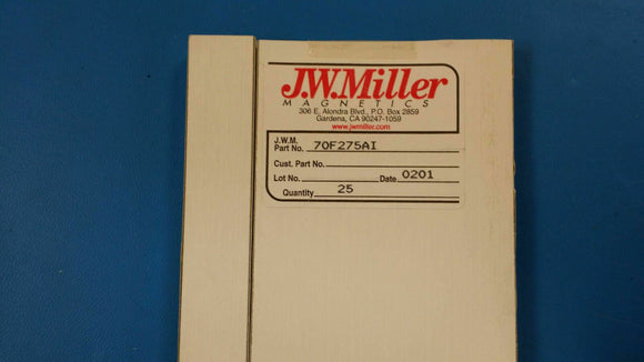 (10 PCS) 70F275AI JW MILLER RF Fixed Inductors 27uH 5%, Obsolete