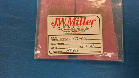 (10 PCS) 9250-152-RC JW MILLER RF Fixed Inductors 1.5uH 10%, Obsolete