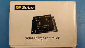 (1) GPCZ110 GP SOLAR, SOLAR CHARGE CONTROLLER 10 AMP