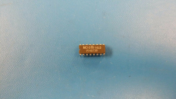 (2 PCS) MC10H116LD MOTOROLA TRIPLE LINE RECEIVER, CDIP16