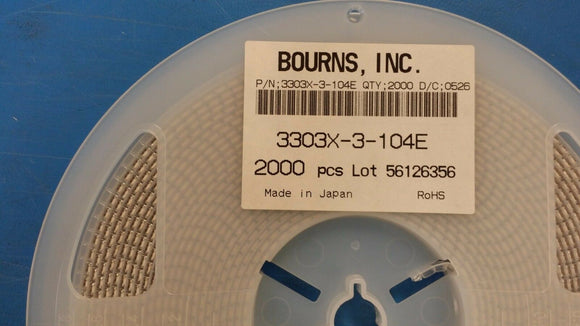 (10 PCS) 3303X-3-104E BOURNS Trimmer Resistors - SMD 3mm 100K 25% Cross Slot