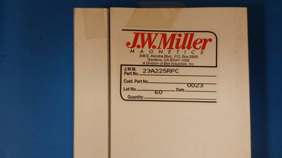 (1 PC) 23A225RPC JW MILLER 14.8-27.5 UH Vertical PC Mount Adjustable RF Coil