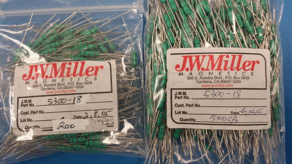 (10 PCS) 5300-18 JW MILLER Fixed RF Inductor 27uH 10%