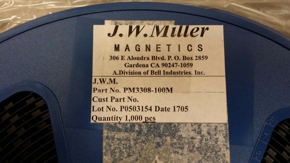 (10 PCS) PM3308-100M JW MILLER Fixed Power Inductors 10uH 20%