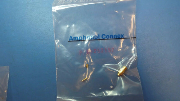 (1PC) 252157 AMPHENOL Coax Conn MCX Str Solder Jk for .047 Semi-Rigid, 50 Ohm