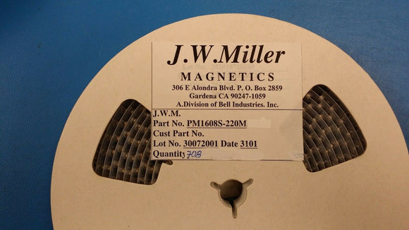 (10 PCS) PM1608S-220M JW MILLER Fixed Power Inductors 22uH 20%