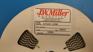 (20 PCS) 07525-120K JW MILLER 12uH 10% INDUCTOR, COIL, FILTERS