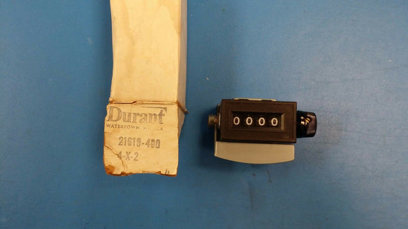 21619-400 DURANT MODEL 4-X-2 MECHANICAL COUNTER