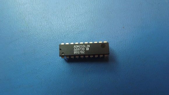 (4PCS) ADM233LJN ANALOG DEVICES Dual Transmitter/Receiver RS-232 20-Pin PDIP