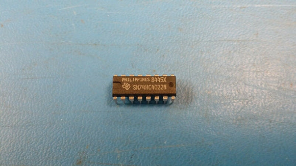 (4 PCS) SN74HC4022N TI Divide By 8 Counter Synchronous Up Direction CMOS PDIP16