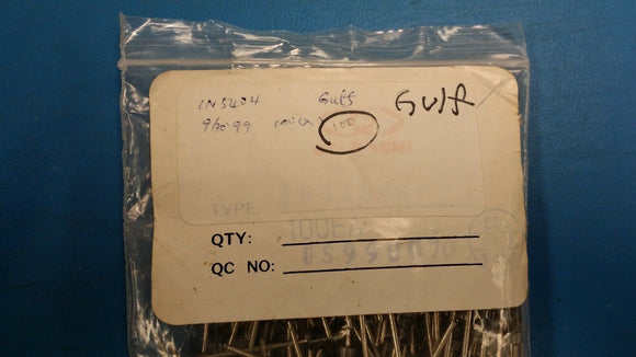 (100 PCS) 1N5404 Gulf Semi, Switching Diode, 400V, 3A, 2-Pin DO-201AD