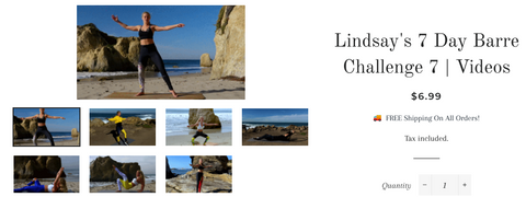 Person - 60 min Barre Glutes Workout By Lindsay