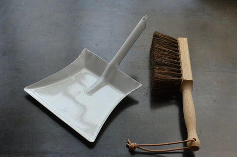 children's dust pan + hand brush set