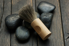badger + woody shaving brush