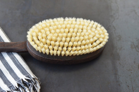 thermowood bath + back brush