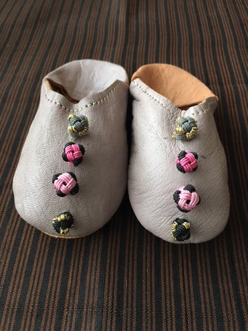 baby moroccan sparkling babouche slippers