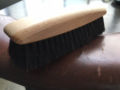 polishing brush for smooth leather surfaces