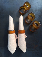 vintage handblown napkin rings - set of 8