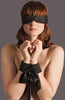 bound silk blindfold and cuffs