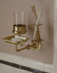 bath trio in solid brass