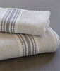 handwoven blockrib towels in cloud grey