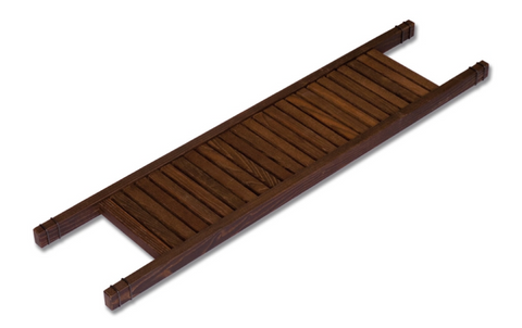 wood bath basin shelf