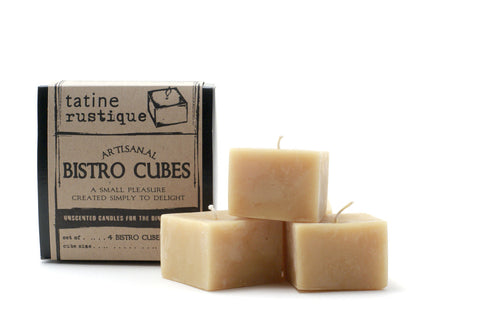 tatine candles: rustic bistro cubes