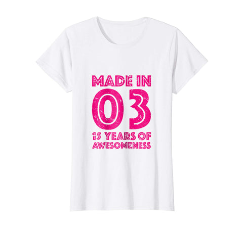 36cf1cf9 15th Birthday Shirt Girls Gift Age 15 Fifteen Year Old Girl